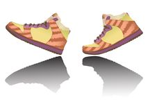 Zapatos que recorren Imagen de archivo libre de regalías