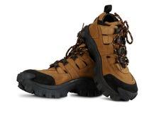 Zapatos que van de excursión resistentes Imagenes de archivo