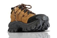 Zapatos resistentes del senderismo Imágenes de archivo libres de regalías
