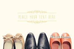 3 zapatos retros Imagen de archivo libre de regalías