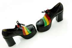 Zapatos retros cobardes Imágenes de archivo libres de regalías