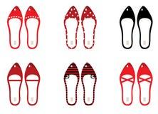 Zapatos retros fijados Fotografía de archivo libre de regalías