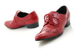 Zapatos rojos Foto de archivo libre de regalías