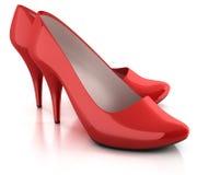 Zapatos rojos aislados Imagen de archivo libre de regalías