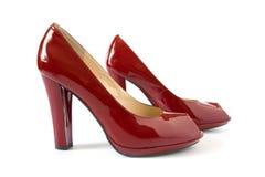 Zapatos rojos de moda Fotografía de archivo libre de regalías