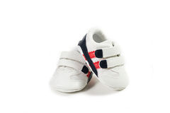 Zapatos rojos del cabrito Imagen de archivo libre de regalías