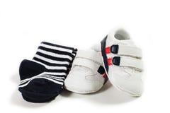 Zapatos rojos del cabrito Fotos de archivo libres de regalías