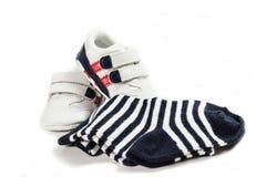 Zapatos rojos del cabrito Imágenes de archivo libres de regalías