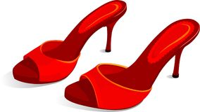 Zapatos rojos del estilete Fotografía de archivo