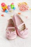 Zapatos rosados Imagen de archivo libre de regalías
