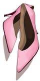 Zapatos rosados Imágenes de archivo libres de regalías