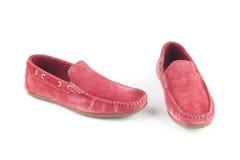 Zapatos rosados del color fotografía de archivo
