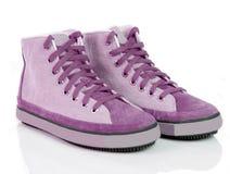 Zapatos rosados del deporte imagen de archivo libre de regalías