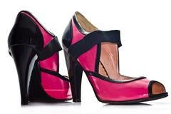 Zapatos rosados del encanto Foto de archivo