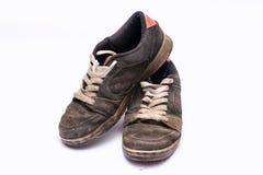 Zapatos rugosos viejos Fotografía de archivo libre de regalías