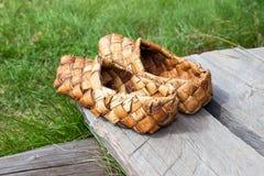 Zapatos rusos antiguos Fotografía de archivo libre de regalías