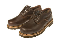 Zapatos tocados con la punta del pie acero fotografía de archivo libre de regalías