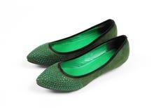 Zapatos verdes Imagen de archivo libre de regalías