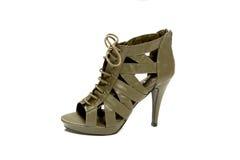 Zapatos verdes atractivos Fotos de archivo libres de regalías