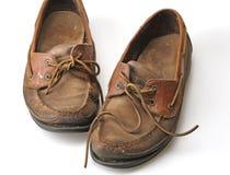 Zapatos viejos de la cubierta Imagenes de archivo