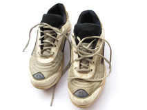 Zapatos viejos del deporte Fotos de archivo libres de regalías