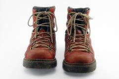 Zapatos viejos rojos Imagen de archivo libre de regalías