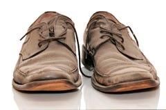 Zapatos viejos sucios Fotos de archivo libres de regalías