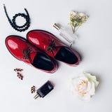 Zapatos y accesorios de las mujeres Imagenes de archivo