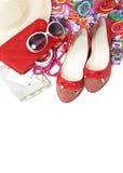 Zapatos y accesorios femeninos Foto de archivo