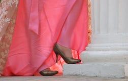 Zapatos y alineada Imágenes de archivo libres de regalías