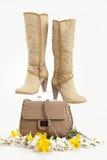 Zapatos y bolso Imagenes de archivo