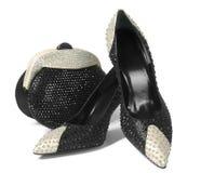 Zapatos y bolso Fotos de archivo