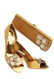 Zapatos y bolso femeninos Imágenes de archivo libres de regalías