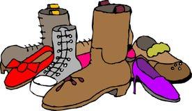 Zapatos y cargadores del programa inicial Foto de archivo