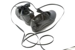Zapatos y corazón de la danza Foto de archivo
