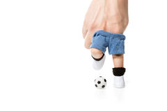 Zapatos y fútbol del fútbol Fotos de archivo libres de regalías
