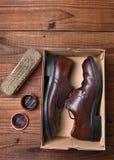 Zapatos y polaco Fotos de archivo