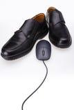Zapatos y ratón Imágenes de archivo libres de regalías