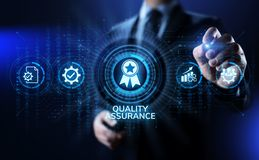 Zapewnienie jakości, gwarancja, standardy, ISO certyfikat i normowania pojęcie, fotografia stock