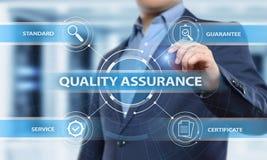 Zapewnienie Jakości usługa gwaranci technologii Standardowy Internetowy Biznesowy pojęcie zdjęcia stock