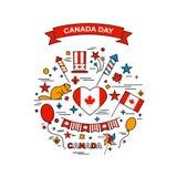 zapina Canada dzień ikony ustawiać Zdjęcia Royalty Free