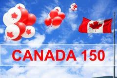 zapina Canada dzień ikony ustawiać Fotografia Royalty Free