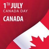 zapina Canada dzień ikony ustawiać Chorągwiany i Patriotyczny sztandar również zwrócić corel ilustracji wektora ilustracji