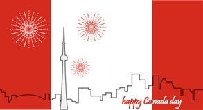 zapina Canada dzień ikony ustawiać kanadyjskiej flagi 1 lotu ptaka s Obraz Royalty Free