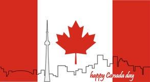 zapina Canada dzień ikony ustawiać kanadyjskiej flagi 1 lotu ptaka s Zdjęcia Stock