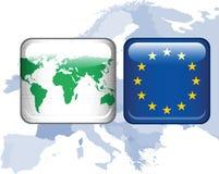 zapina Europe glansowaną mapę Zdjęcia Royalty Free