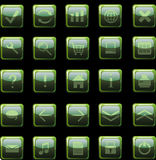 zapina ikony ciemnozieloną sieć Obraz Stock