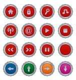 zapina ikony czerwieni set Fotografia Royalty Free