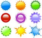 zapina kolorowe ikony Fotografia Royalty Free