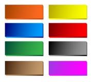 zapina kolorowy błyszczącego Obrazy Stock